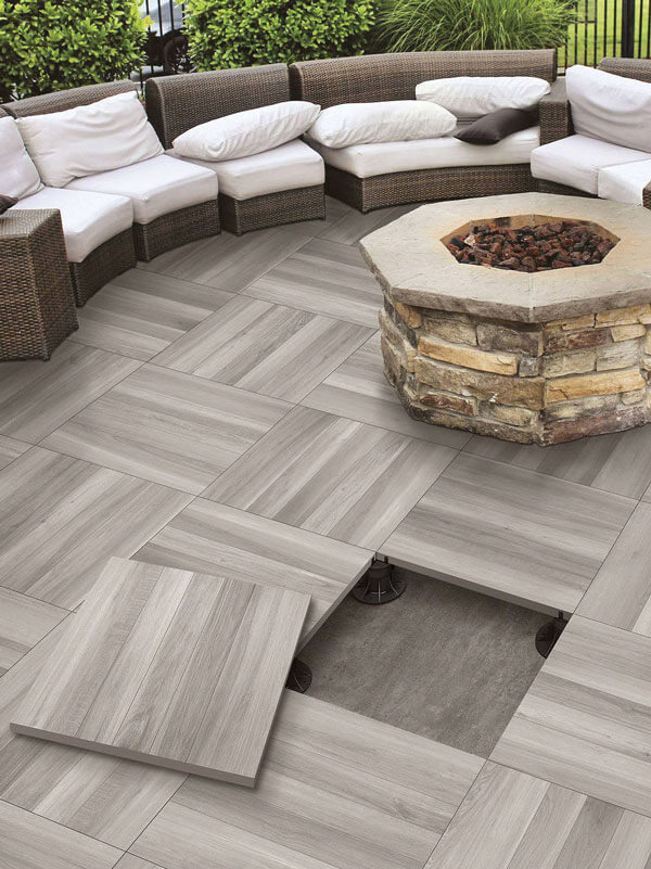 Tiled Patio area supported on StrataRise Pedestals