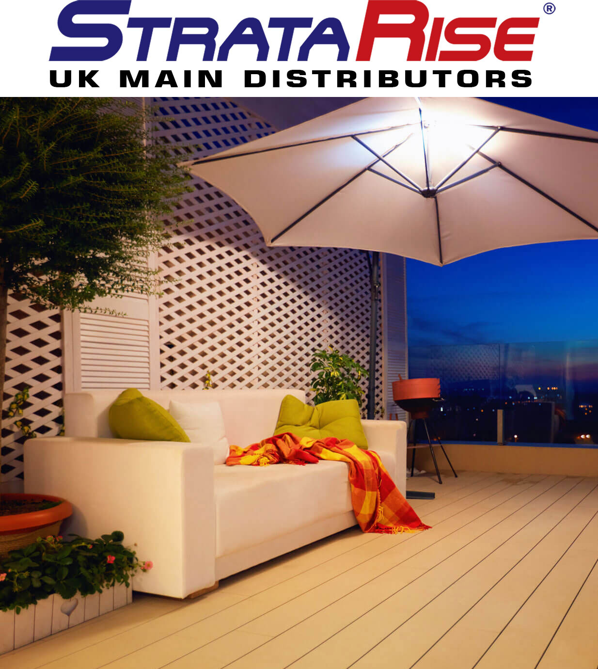 rooftop decked area